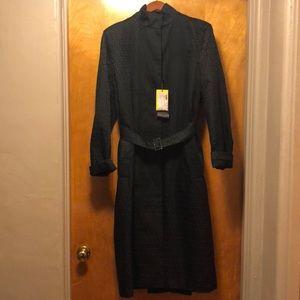Fendi black logo trench coat 🧥